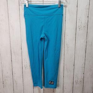 Celestial Bodiez Blue Capri Ruched Bottom Leggings